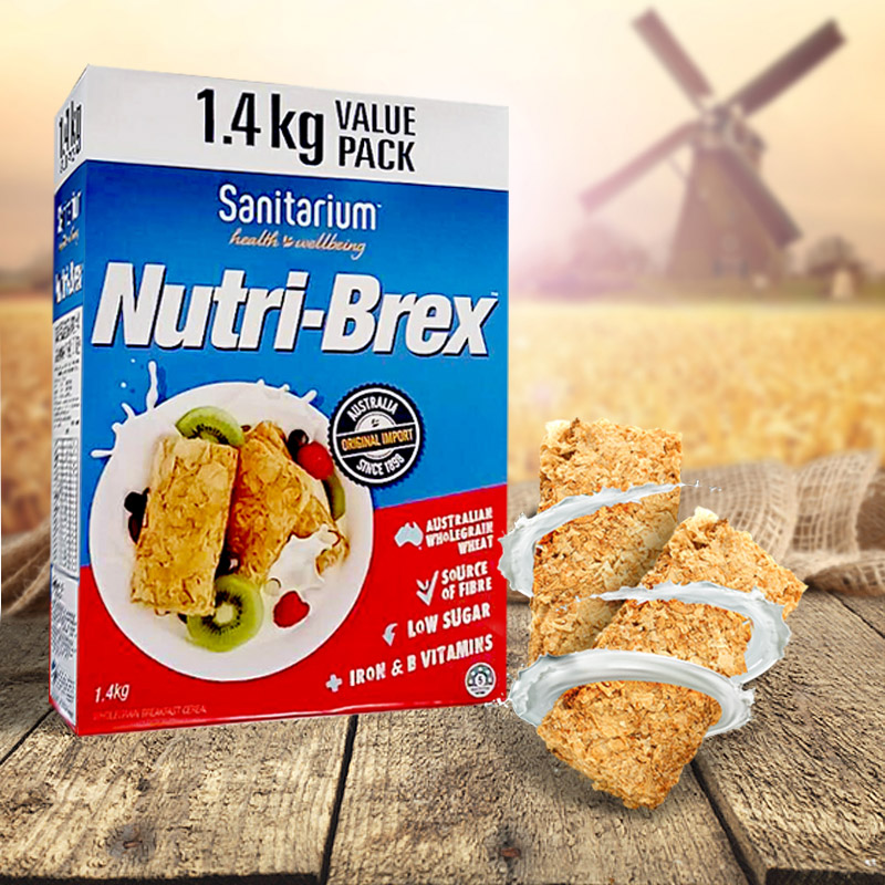 现货包邮澳洲Nutri-Brex1.12kg/1.4kg健身燕麦饼干欢乐颂安迪麦片