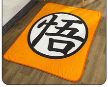 包邮七龙珠cn2悟字 动rt毯珊瑚绒毯子单双的二次元午休空调毯