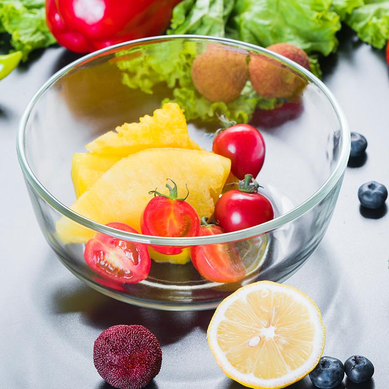 创意透明玻璃沙拉碗家用甜品泡面碗水果沙拉蔬菜料理碗拉面早餐碗-大哥好帅-12月