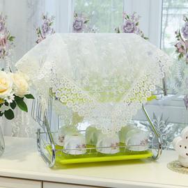 厨房碗架盖巾沥水架餐盘杯子防尘布置物架防油罩收纳箱盒万能盖巾