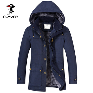 Woodpecker middle-aged men's cotton jacket middle-aged and elderly shirt 50-year-old 60 father autumn and winter jacket plus velvet thick section