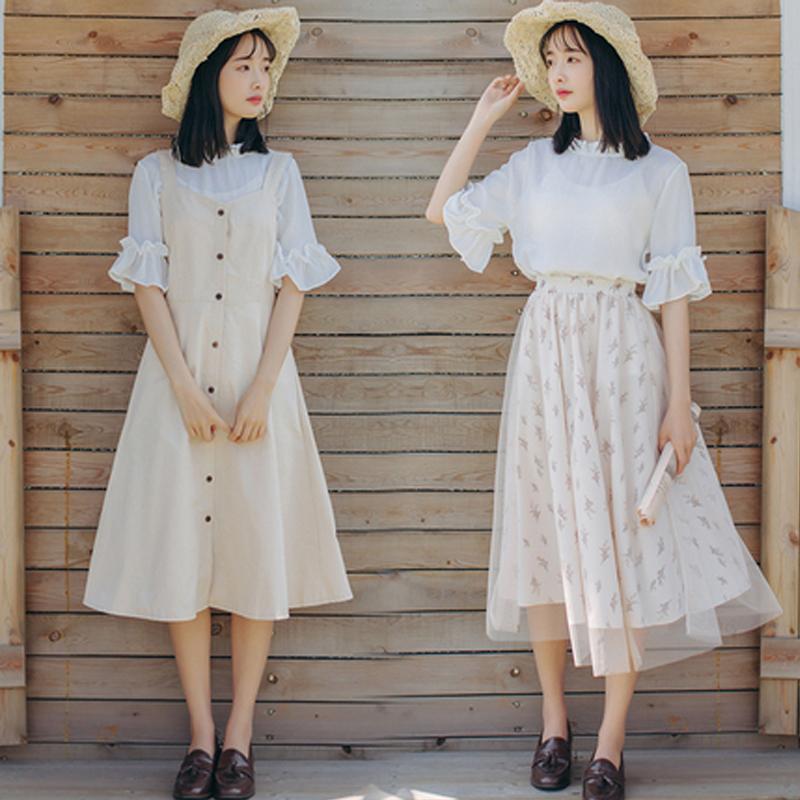 套装裙子姐妹闺蜜装夏季韩版学生吊带连衣裙少女甜美小清新两件套