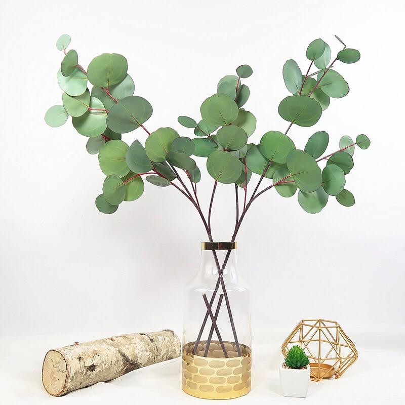 北欧高品质手感圆叶尤加利仿真花束绿植家居装饰假花艺婚庆金钱叶