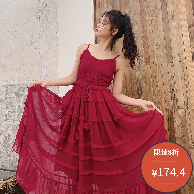 带连衣裙女2020春夏季新款