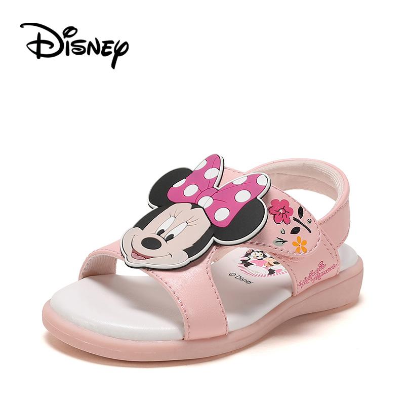 迪士尼童鞋女童学步鞋夏季新款幼童凉鞋儿童鞋子防滑软底鞋柜