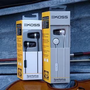 高斯KOSS Spark Plug 入耳式小钢炮 火花塞耳机 强劲低频锦艺行货