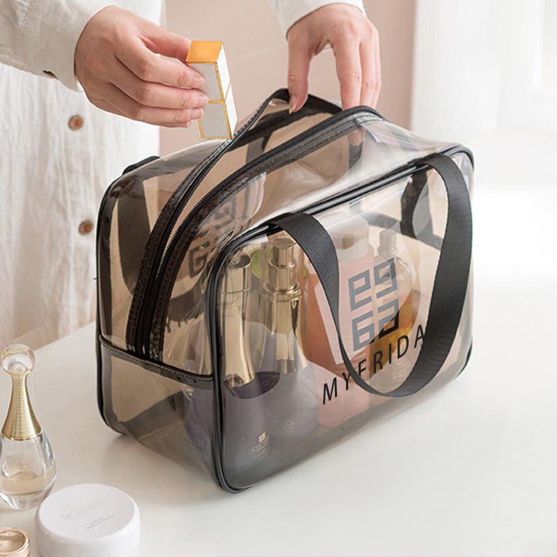 网红化妆包女便携大容量ins风超火小号洗漱包旅行透明品收纳盒袋
