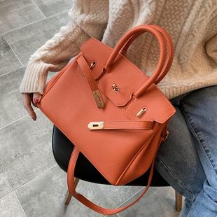 洋气包女包2020新款潮韩版百搭斜挎包欧美单肩包时尚手提包铂金包图片
