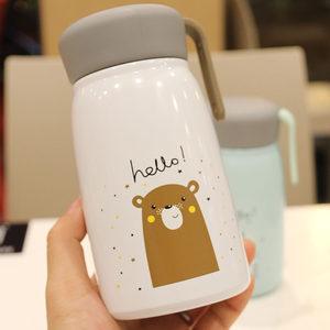 韩版ins儿童杯可爱真空不锈钢水杯学生便携大肚杯子喝茶保温杯子