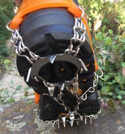 户外冰爪18齿不锈钢雪地防滑鞋套雪爪攀岩装备冰抓登山鞋钉链