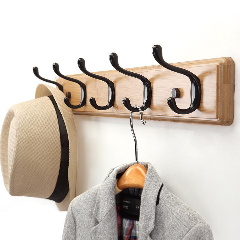 衣服挂钩墙上壁挂衣帽钩创意卧室衣帽架门后挂衣钩墙壁实木挂衣架