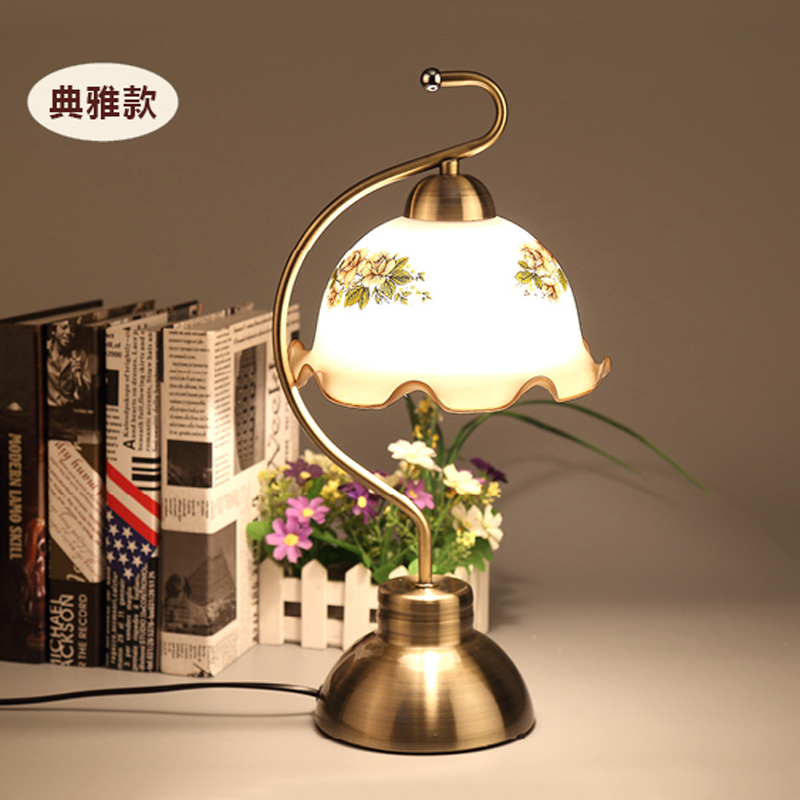 现代简约触摸感应触控台灯卧室床头客厅欧式田园复古创意调光台灯-一灯来买灯
