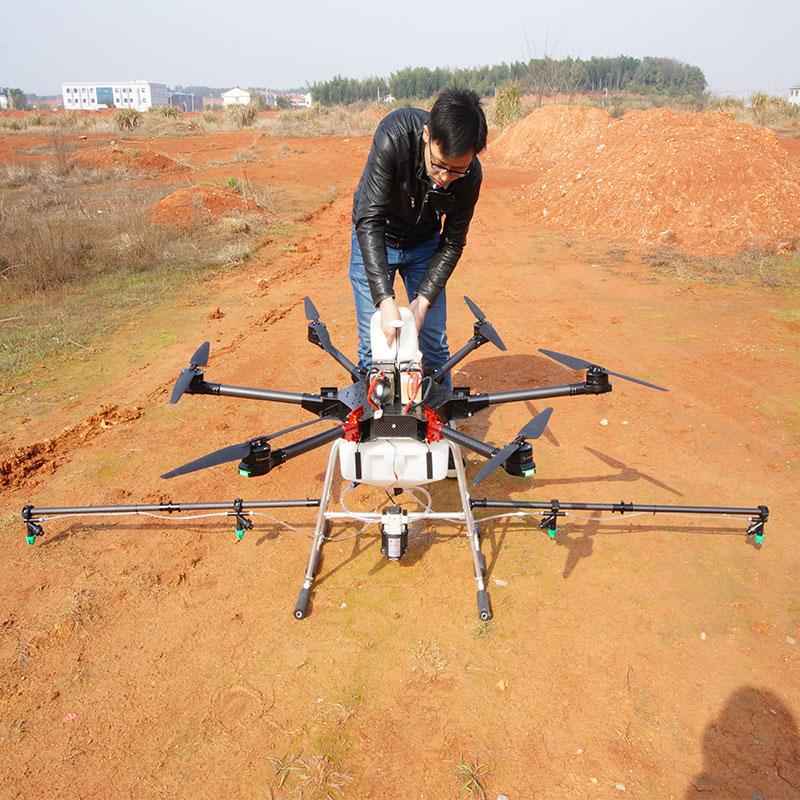 自动化农用农业6轴10升植保打药飞机喷撒农药农用农喷大型飞机