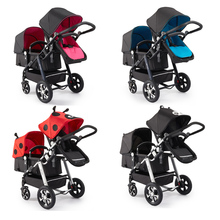 semacogo3胞胎婴儿um胎双的大(小)孩婴儿车可坐躺前后轻便折叠