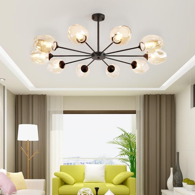 北欧灯具客厅吊灯简约现代玻璃魔豆LED分子灯创意个性卧室餐厅灯_宜家灯饰直销店