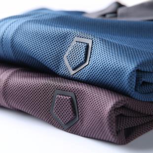 夏季新款 高端品质丝滑菠萝针织 男士商务休闲撞色翻领短袖T恤