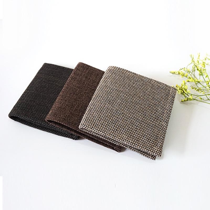 原创设计手工男女士钱包短款文艺复古简约棉麻超薄小折叠布艺钱包