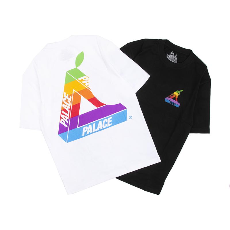 现货 PALACE 19SS JOBSWORTH 苹果彩虹隐藏款经典三角LOGO短袖T恤
