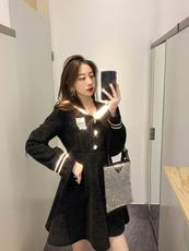 2019冬 季新款长袖公主裙韩版打底裙复古a字连衣裙女气质小黑裙潮