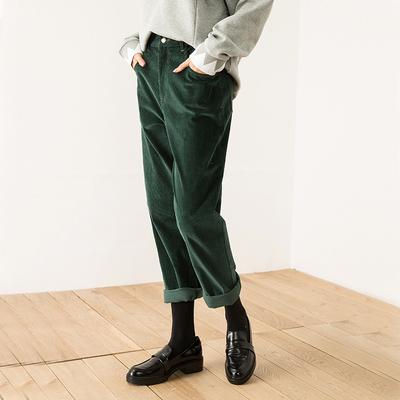 贝丽花园 14670 复古灯芯绒 三色入 高腰直筒 棉质休闲裤长裤 拍下228元包邮