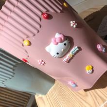 创意卡通粉色垃圾ku5卧室少女an生间厨房客厅废纸篓可爱大号