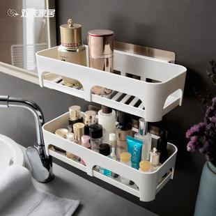 免打孔卫生间置物架壁挂浴室置物