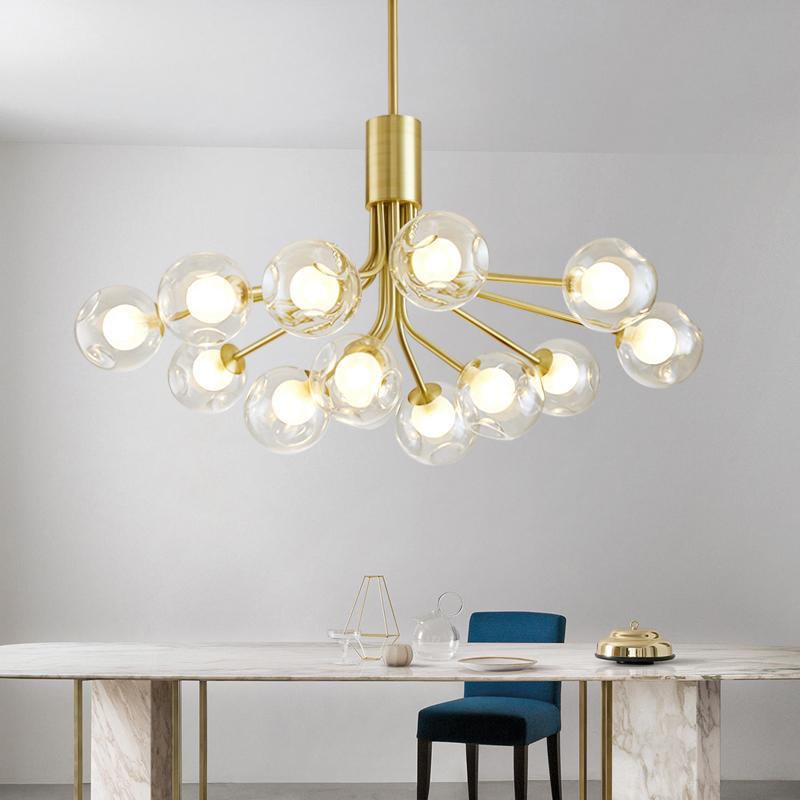 后现代魔豆分子灯北欧餐厅卧室客厅吊灯现代简约大气家用轻奢灯具_casa照明
