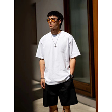 BDCth0原创 新ng短袖白色T恤男潮 日系潮牌圆领体恤宽松休闲