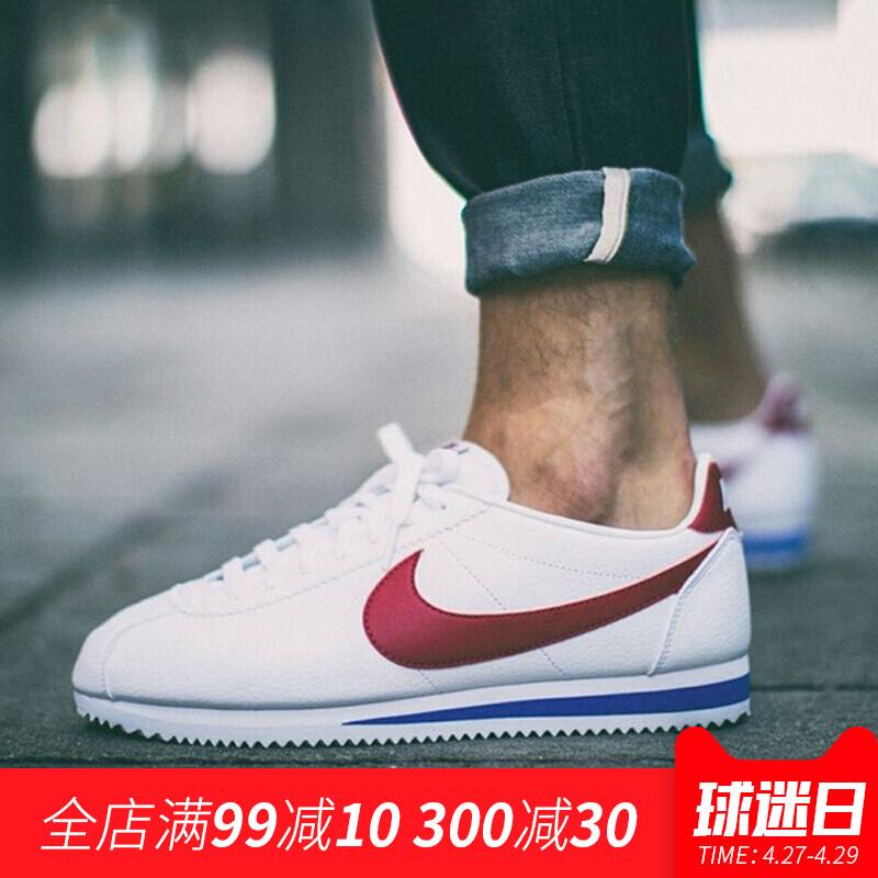 NIKE/耐克阿甘鞋男CLASSIC CORTEZ LEATHER 休闲运动小白鞋749571