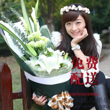 香水百合玫瑰花束长沙鲜花店同id11速递株am合肥南京送生日