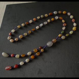 水玉冰魄 天然阿拉善玛瑙项链 彩玛瑙原石毛衣链长链 糖心 实物图片