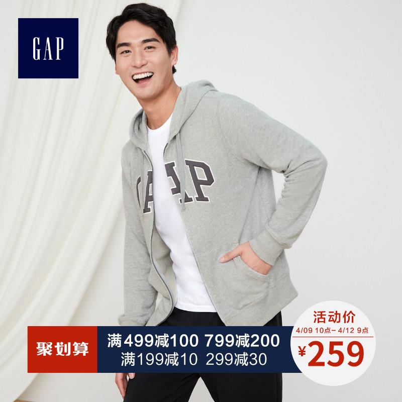 gap男装连帽卫衣外套春秋444146 e 2019新款logo运动开衫情侣装男