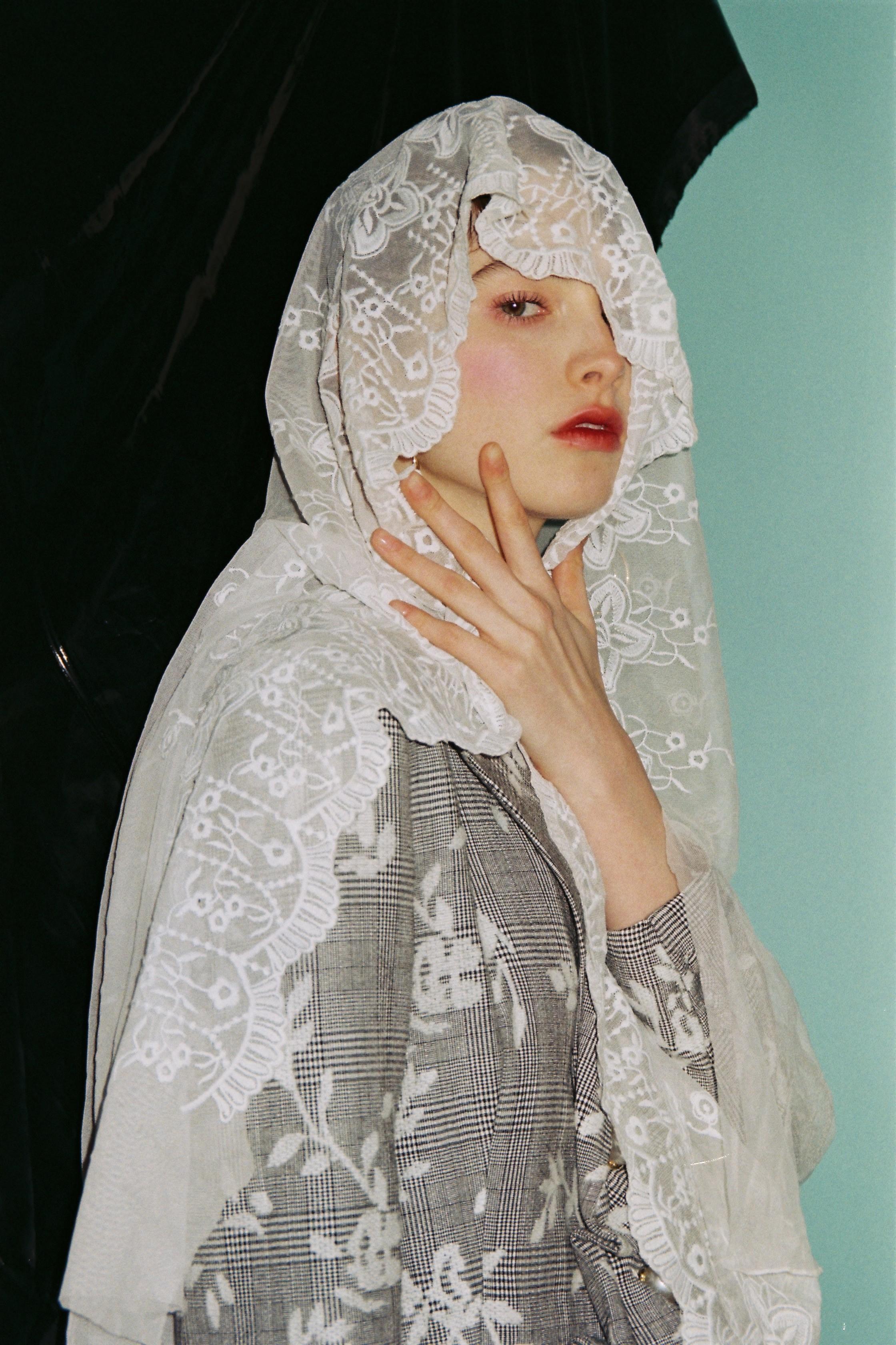 制造后花园*colorfilm系列独立设计格纹绣花复古不规则珍珠西装