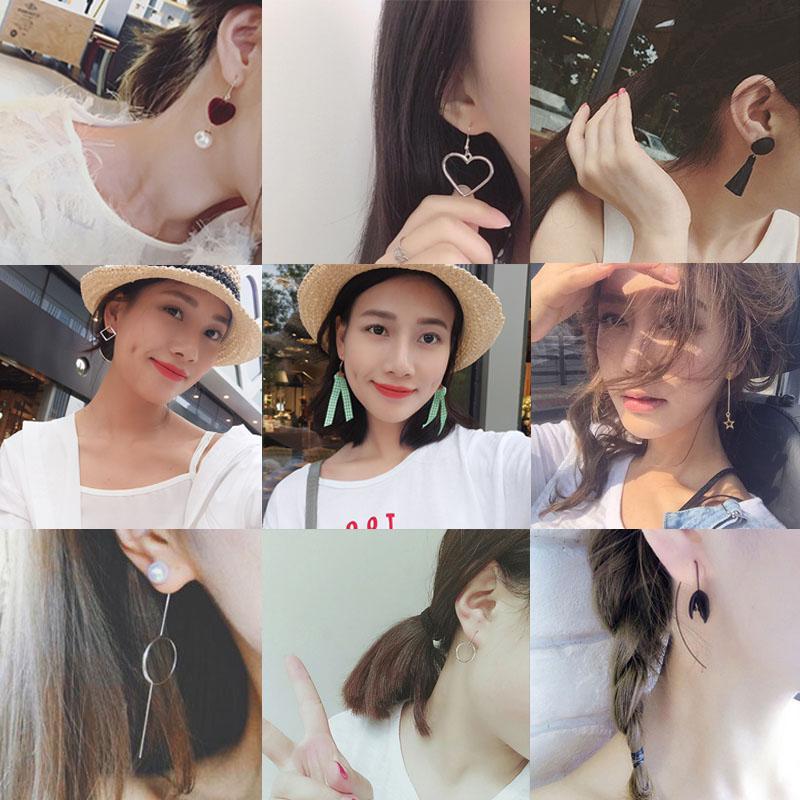 韩国个性流苏百搭耳饰气质女耳钉网红耳环长款简约耳坠防过敏耳夹