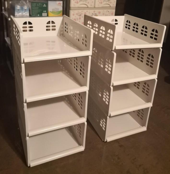 衣柜收纳神器衣橱分层收纳架衣服整理架塑料抽屉式隔板架储物架子