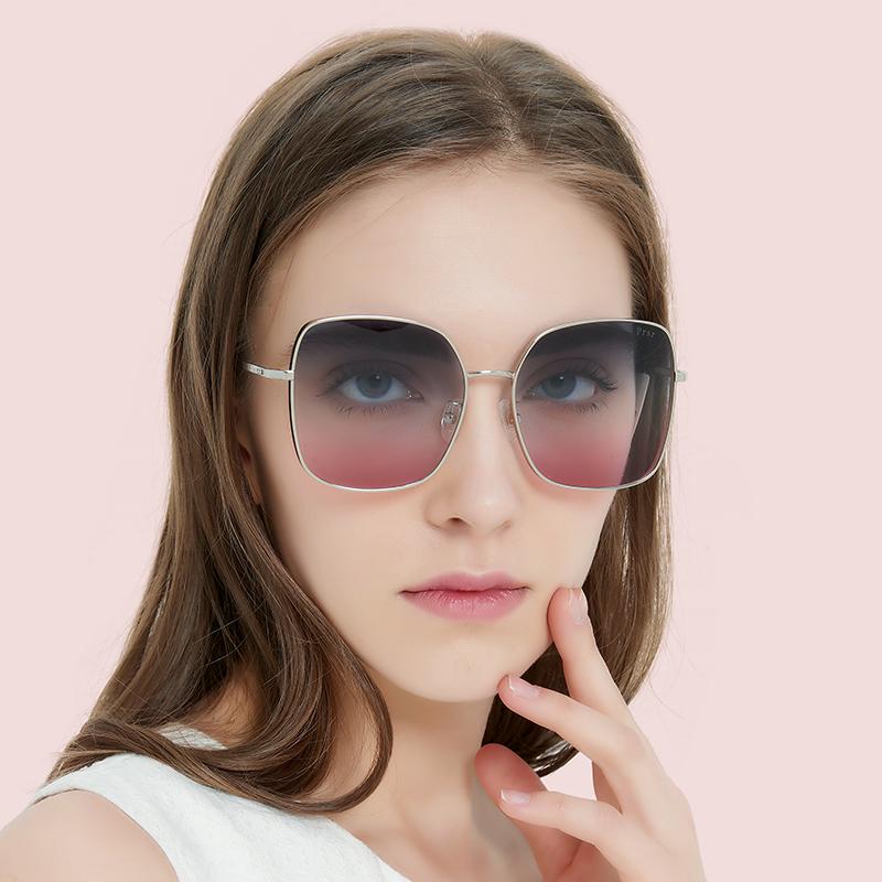 帕莎2020新款渐变太阳镜墨镜女潮显瘦方框圆脸高清明星同款PS7006