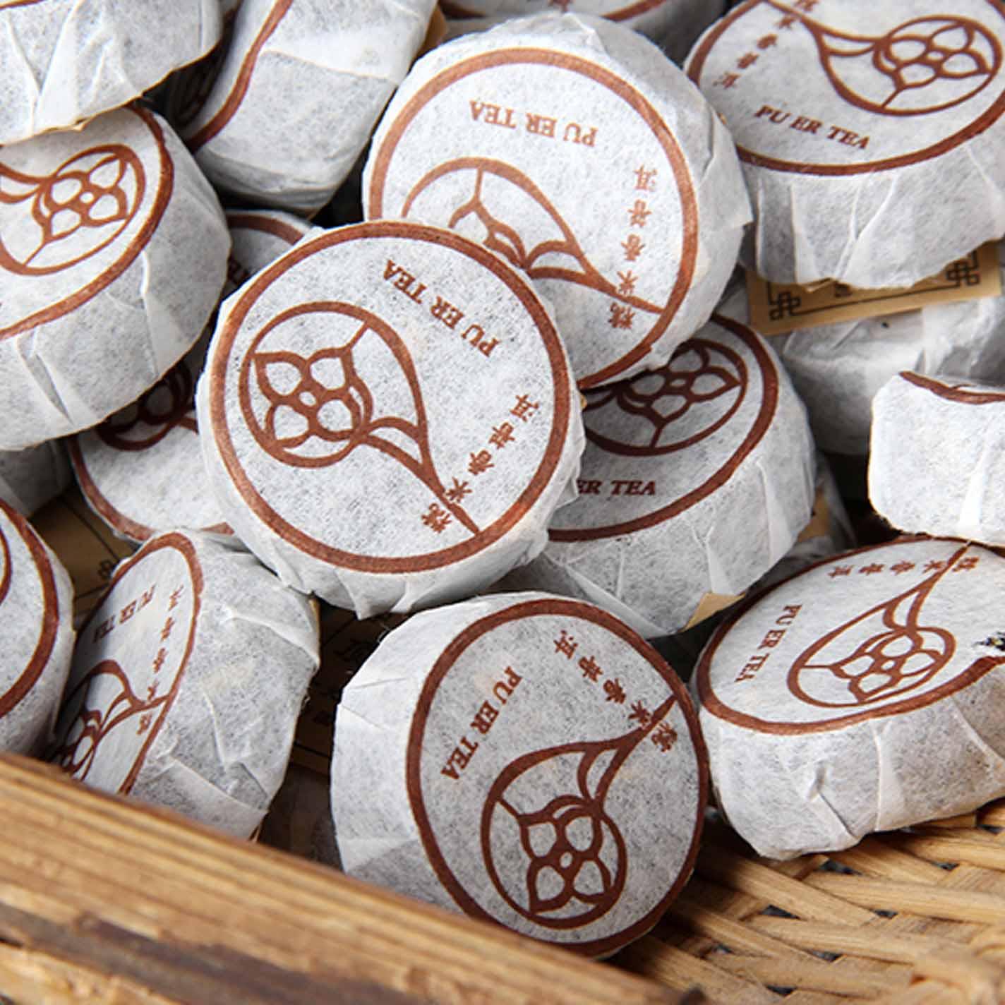糯米香普洱茶熟茶500g小沱茶2003年珍藏老干仓宫廷古树茶买二送一