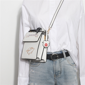 Embroidered Women's Bag 2019 New Korean Wild Simple Messenger Bag Women's Bag Shoulder Bag Fashion Retro Small Square Bag