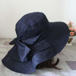 [High quality] Japan's oversized eaves UV sunscreen visor cloth hat cotton linen cool hat cycling female summer sun hat