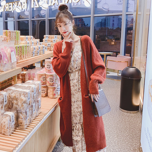 2020新款毛衣外套女韩版宽松慵懒风中长款针织开衫秋冬季加厚外穿图片