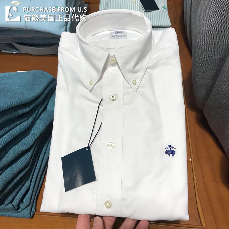 美国Brooks Brothers/布克兄弟男长袖修身版衬衫衬衣免烫休闲商务