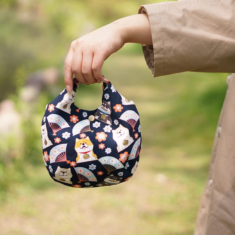 包包2020新款潮ins日式手提包小拎包女帆布手工布袋包单肩斜跨包