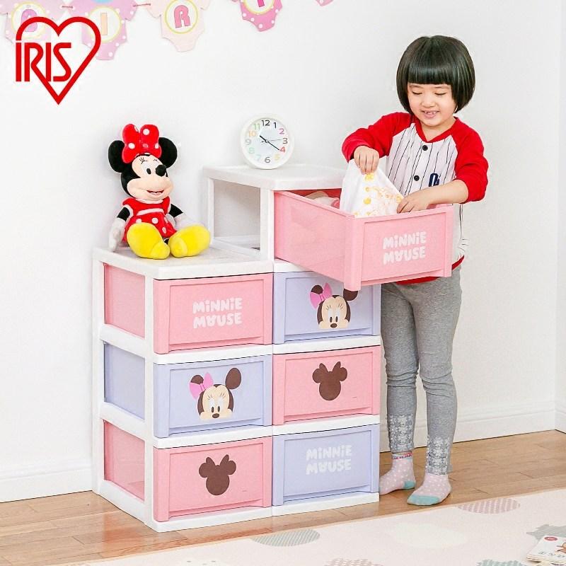 爱丽思 迪士尼 卡通 抽屉式 塑料 收纳 儿童 整理 鞋柜
