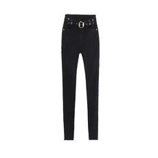 薇娅viya定制腰带装饰洞洞小脚牛仔裤 QSS007071