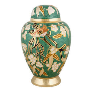 Urns in the flowers and birds brass cremation urns universal memorial pet design high-end funeral supplies
