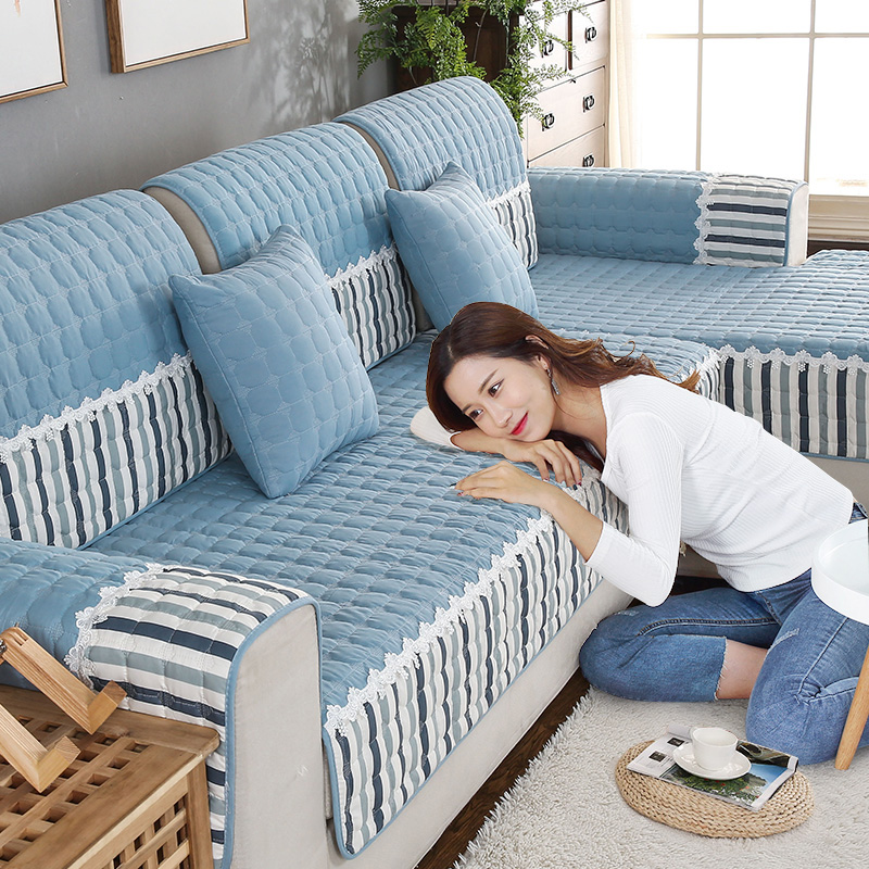 四季沙发垫布艺防滑坐垫通用简约现代客厅组合全包沙发套罩巾全盖