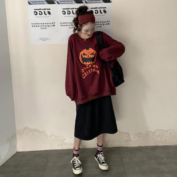 2019年秋装新款大码女装网红卫衣胖妹妹洋气半身裙两件套装减龄潮