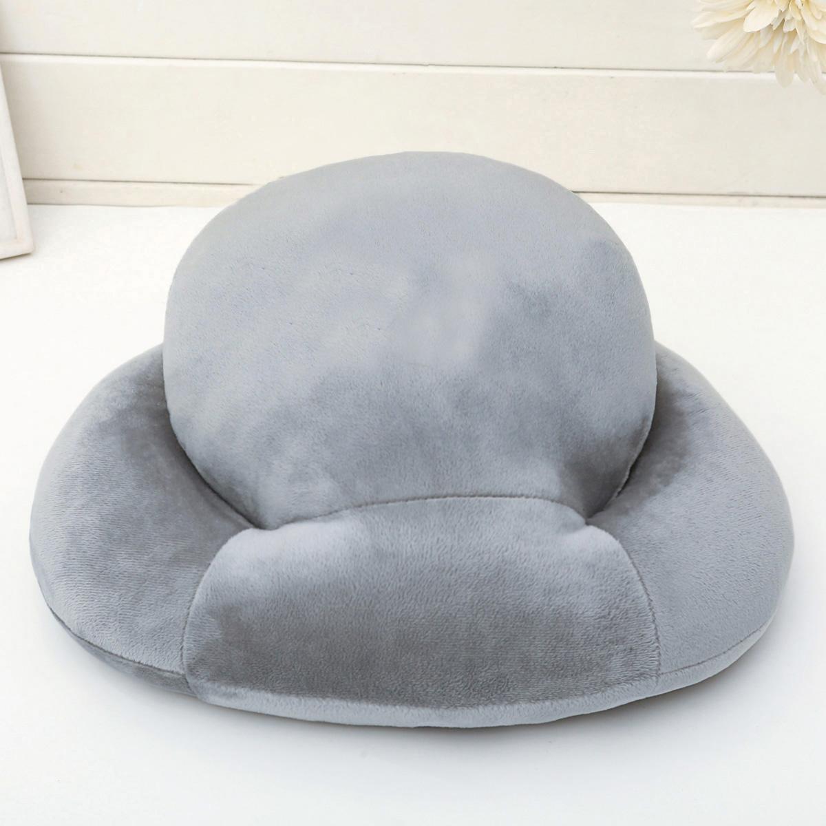 纯色银灰午睡枕