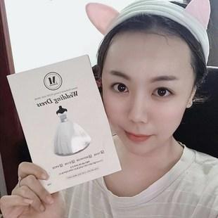 韩国正品merbliss新娘婚纱面膜急救补水保湿美白超薄面膜5片装