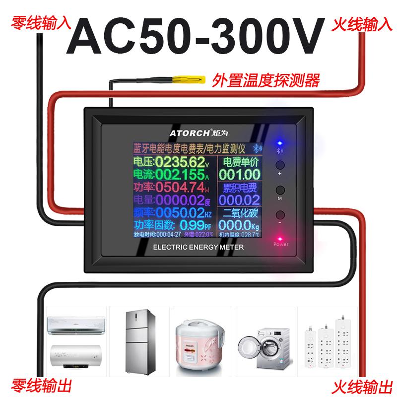 AC交流电表数显电压表电费计量模块电力监测仪电流表功率计量仪表